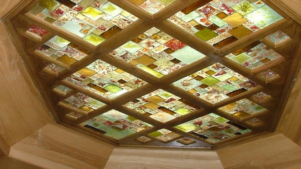 نورگیر و سقف کاذب شیشه ای دکوراتیو